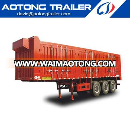 The used box semi trailer of China van trailer chassis manufacturer for truck on sale Dai