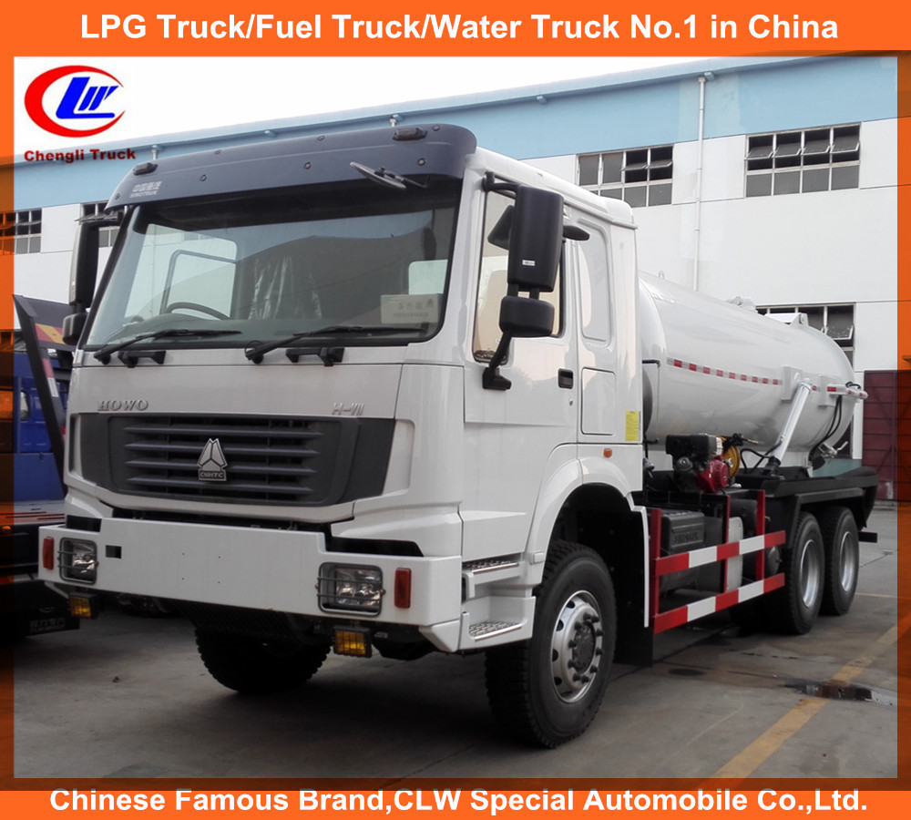 12cbm Sinotruck Sewage Suction Truck for 12000liters Vacuum Tanker Truck